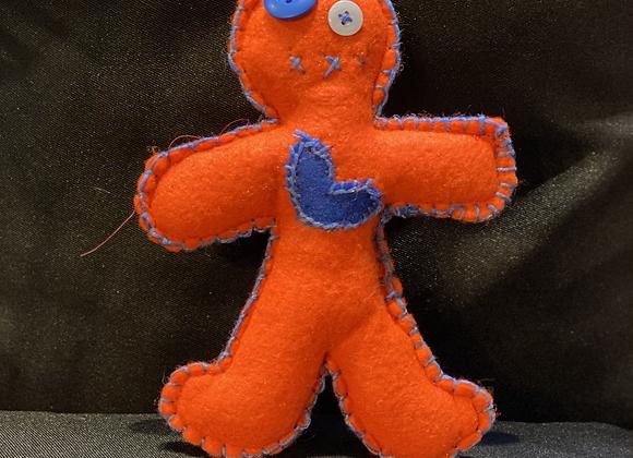 Handcrafted Poppet Doll - Orange