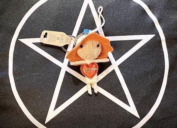 Voodoo Doll Keyring - I ❤️ You