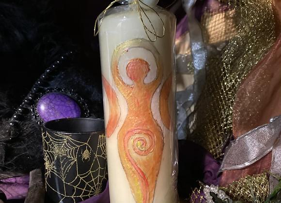 Goddess Spell Candle 🕯 (Orange)