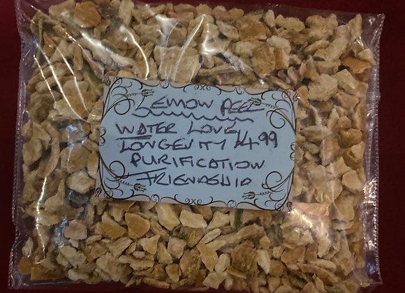 Lemon peal  love  water  longevity  purification