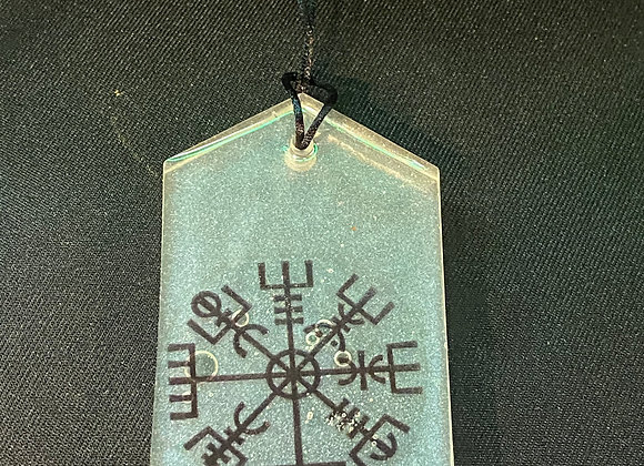 Viking Compass Car Protection Charm - Clear