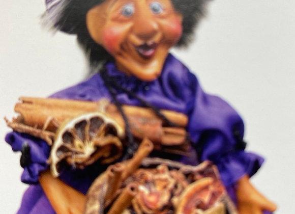 Demdike flying witch purple 32cm