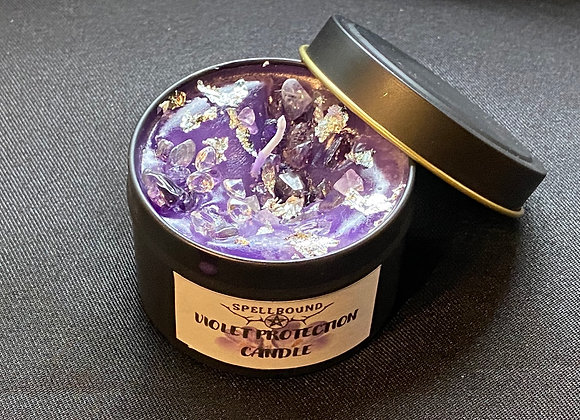 The Glitter Edition Violet Protection Candle