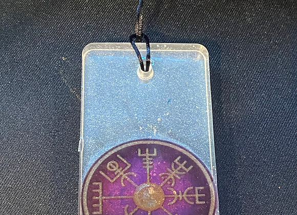 Viking Compass Car Protection Charm - Purple