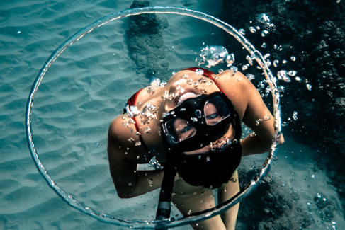 Freediving Bubble Ring