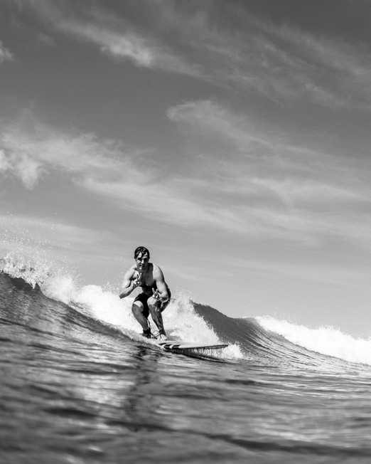 Black &  White Surfer Oahu