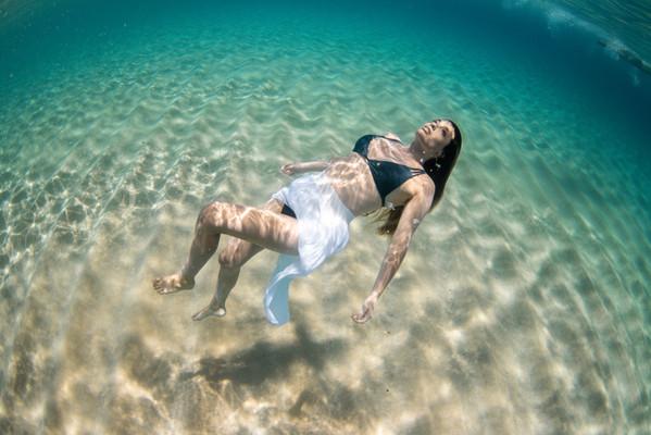 Floating in the Ocean