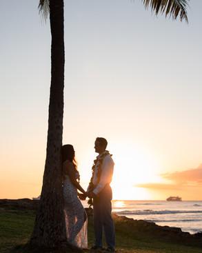 Oahu Wedding Sunset