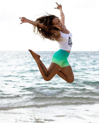 Lanikai Jumping Portrait