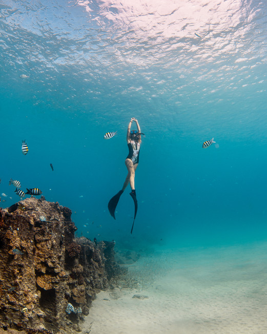 Freediving on Oahu