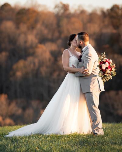 Wedding Kissing Couple