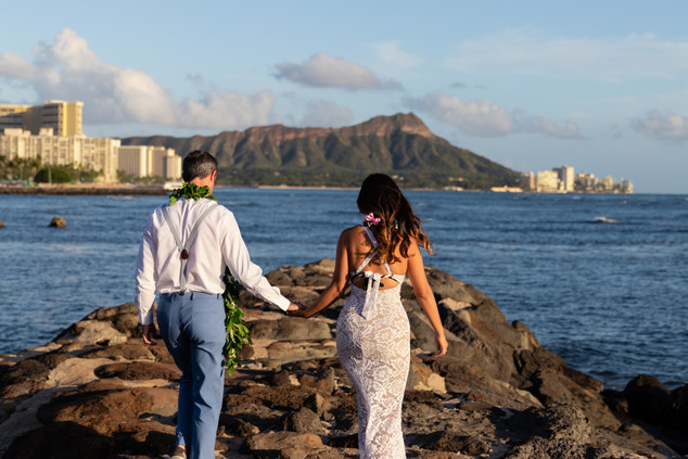 Diamond Head Oahu Wedding