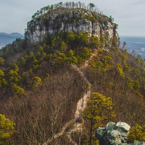 Hiking Pilot Mountain