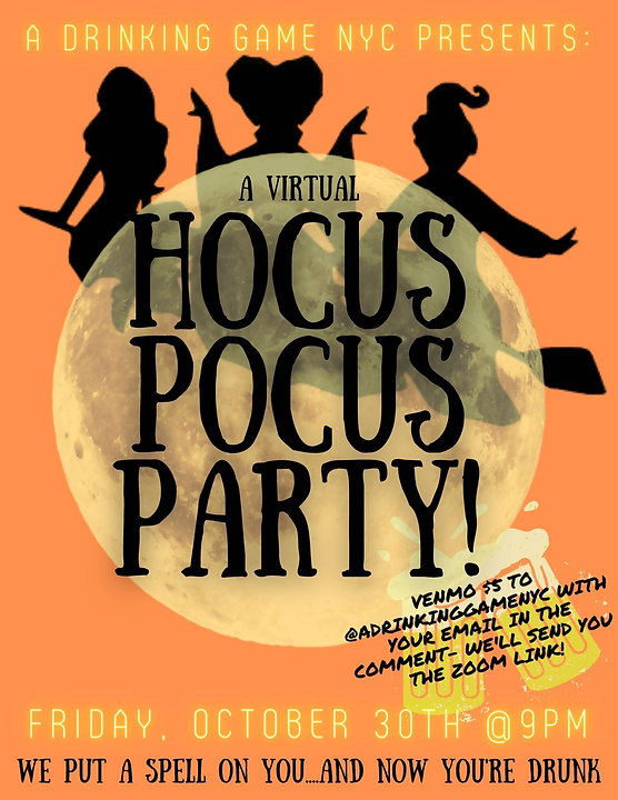 a drinking game nyc hocus pocus