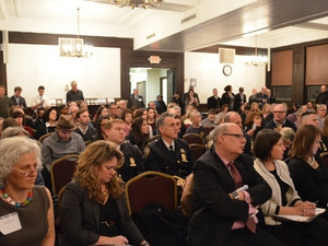 Standing Room Only Crowd at the Society for Ethical Culture