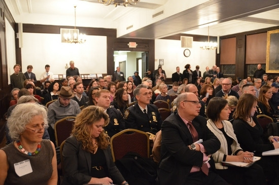 The SRO crowd at the Society for Ethical Culture