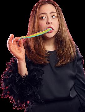 Candice Palladino rainbow tape