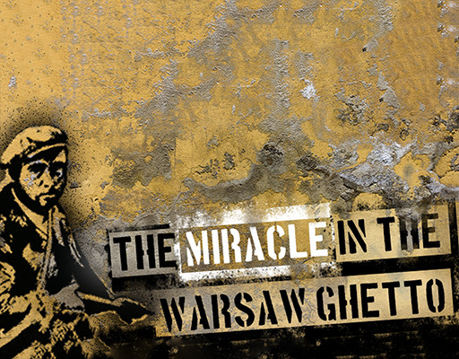 The miracle in the Warsaw Ghetto logo