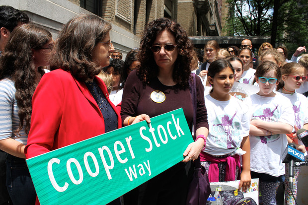 Pictured above: Helen Rosenthal, New York City Council Member for the 6th District and Cooper's mother, Dana Lerner.