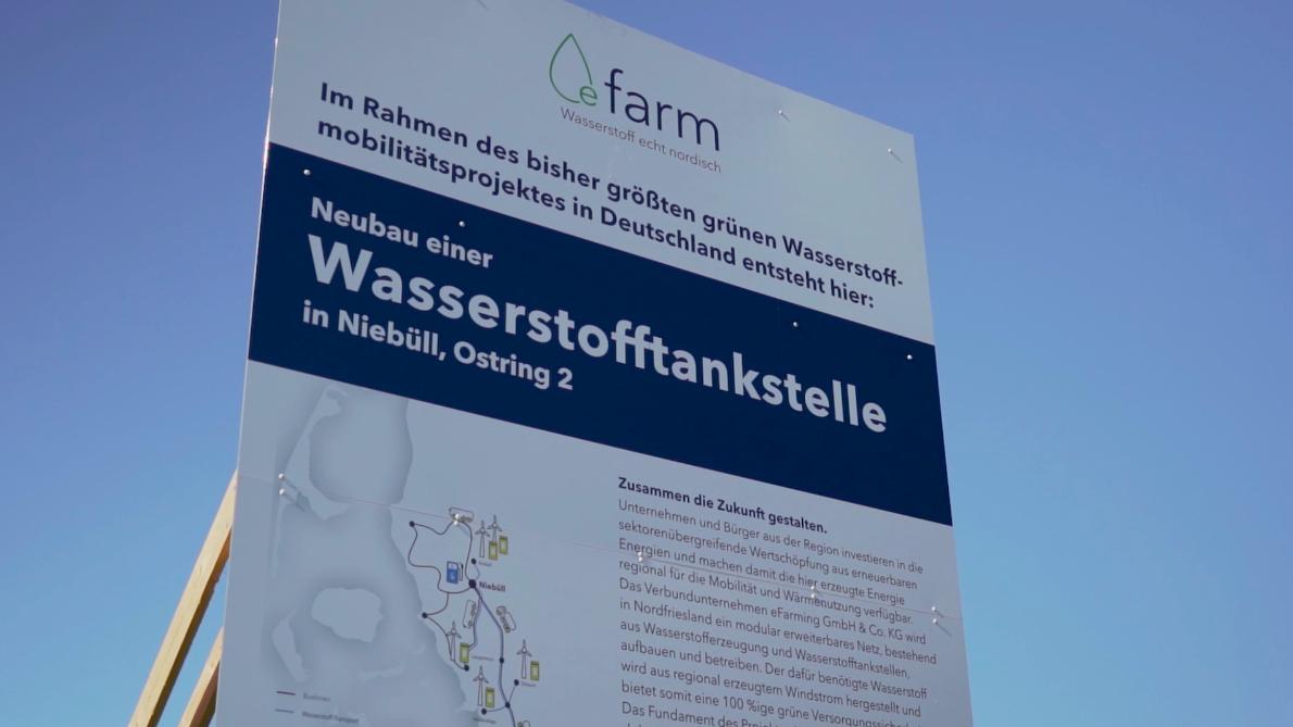 An der Baustelle zur Wasserstofftankstelle in Niebüll