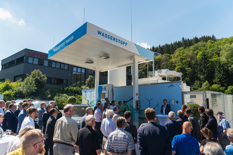 Eröffnung der Wasserstoffstation Siegen