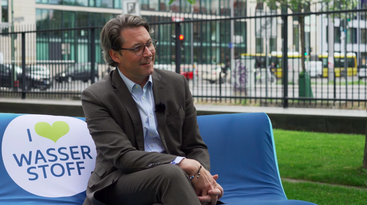 Dreh mit Bundesverkehrsminister Andreas Scheuer