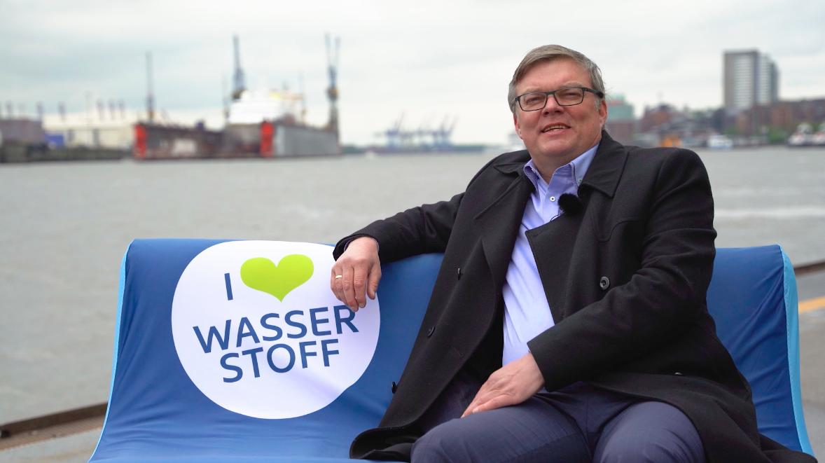 Dreh mit Siemens Energy an den Landungsbrücken in Hamburg