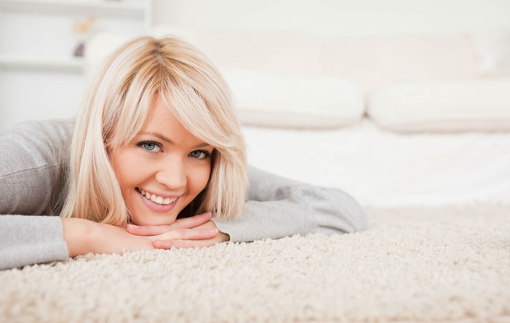 Woman on Clean Carpet