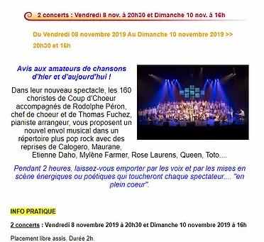 Nouveau spectacle : EN PLEIN COEUR !!!