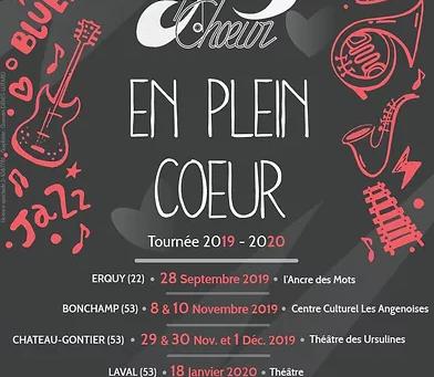 Programme nouvelle tournée 2019 - 2020;