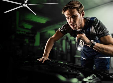 (자동차 정비소)INDUSTRIAL HVLS CAN HELP AUTOMOTIVE SHOPS THRIVE POST QUARANTINE