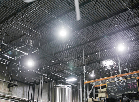 (맥주공장)LITTLE HARPETH BREWERY USES THE HUNTER INDUSTRIAL HVLS FAN TO RETROFIT OLDER BUILDING