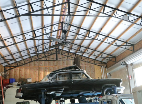 (차고)HVLS FAN PROVIDES YEAR-ROUND COMFORT FOR LARGE NASHVILLE GARAGE