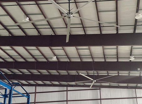 TITAN HVLS FAN IMPROVES AIR QUALITY AND TEMPERATURE IN GEORGIA FACILITY