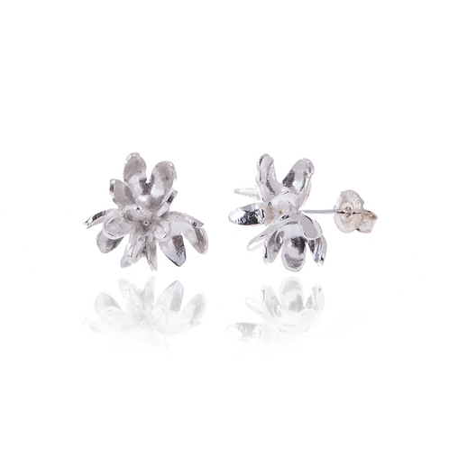 Flower Cluster Stud Earrings