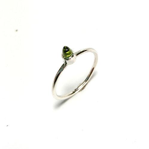 Fancy peridot stacker ring