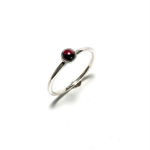 Rhodalite garnet stacker ring