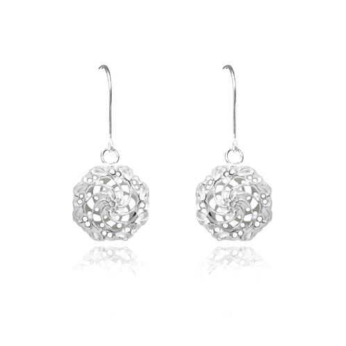 Swirl dbl dangle earrings