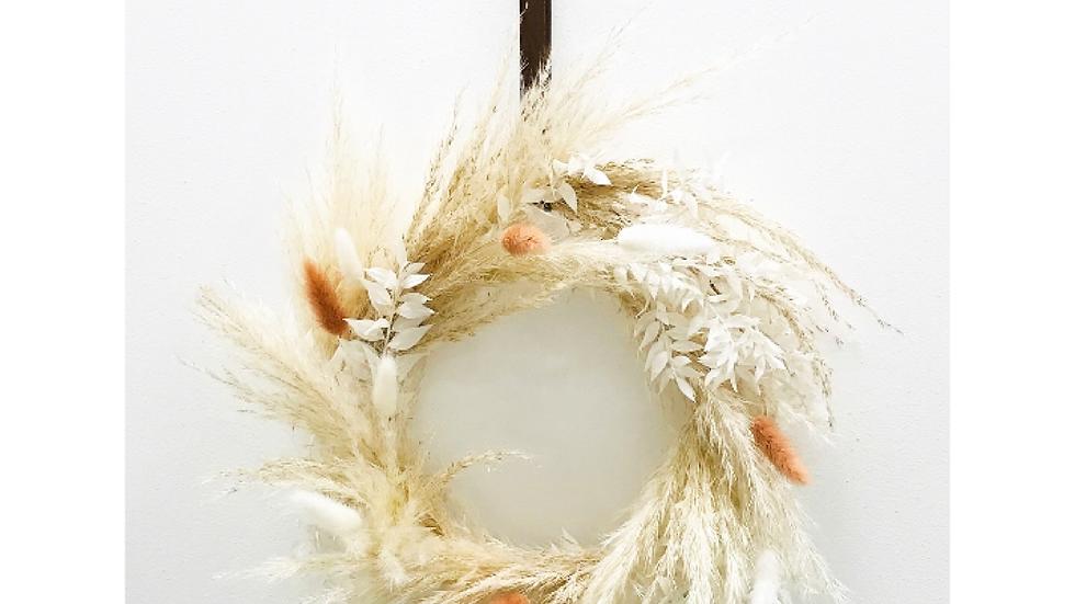 Dried Winter wreath - Nude