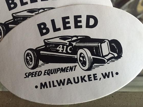 Bleed Speed Equipment sticker