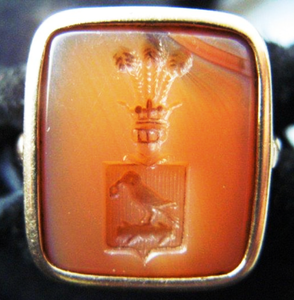 Seal ring carved Carnelian