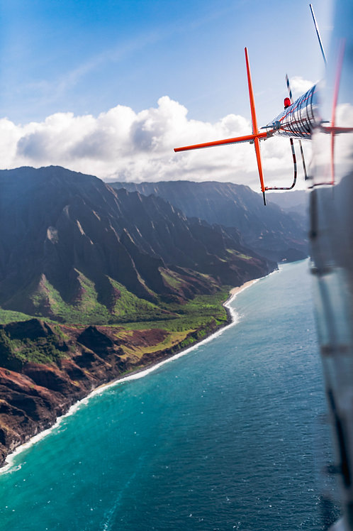 Helicopter over the NaPali Coast