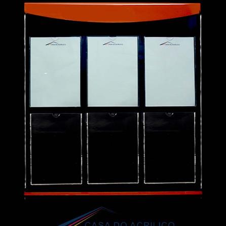 Ref. 724 Painél com 1 Display informativo para 6 folhas A4