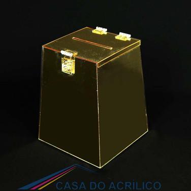 Urna cônica 25 espelhada ouro