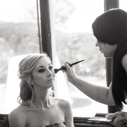 Amber giving her client the magic touch!