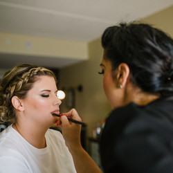 Amber completing the look!