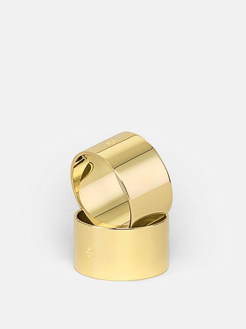 Salvešu gredzenu komplekts zelta krāsā