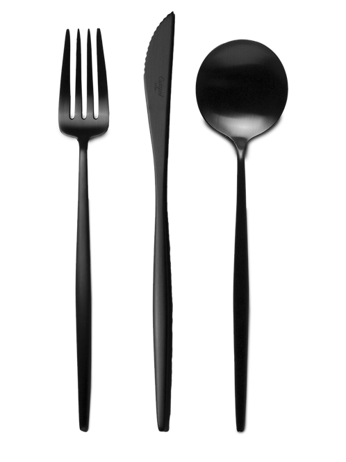 Cutipol galda piederumu komplekts MOON Black 24gb.