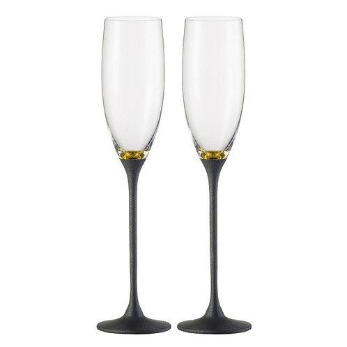 Eisch šampanieša glāzes Exclusive Gold Black