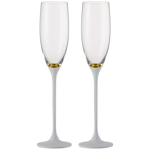 Eisch šampanieša glāzes Exclusive Gold White